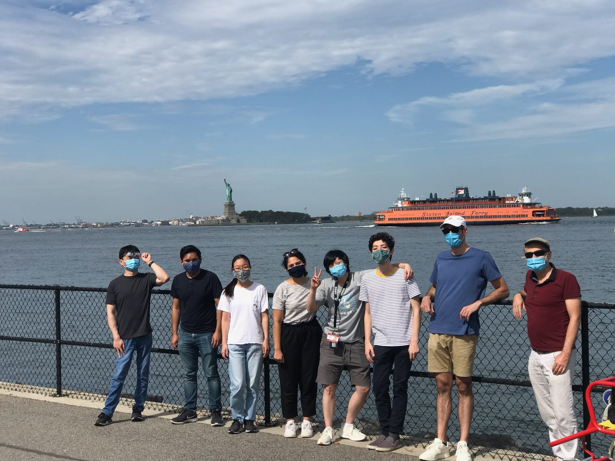 Lab trip to Governor's Island!